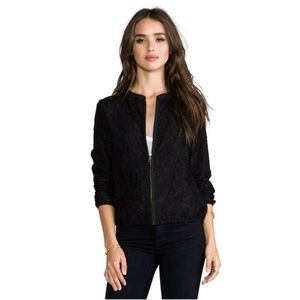 MICHAEL STARS Lace Bomber Jacket Zip